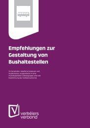 Empfehlungen zur Gestaltung von Bushaltestellen