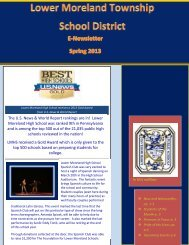 Spring 2013 Newsletter - Lower Moreland Township School District