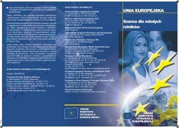 UNIA EUROPEJSKA: Szansa dla młodych rolników - Polska w UE