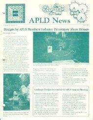 APLD News - Association of Professional Landscape Designers