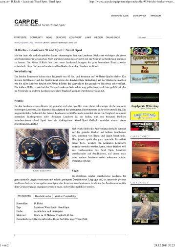carp.de - B.Richi - Leadcore Weed Spot / Sand Spot