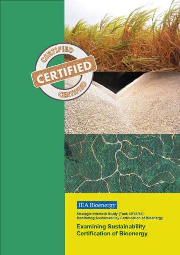 T1: Examining Sustainability Certification of Bioenergy