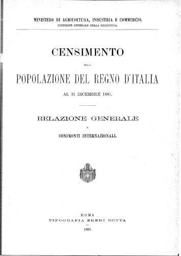 POPOLAZIONE DEIJ REGNO D'ITALIA - Istat