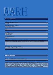 Generelle oplysninger Studie på Aarhus Universitet: Engelsk Navn ...