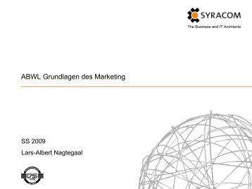 ABWL Grundlagen des Marketing - Syracom AG