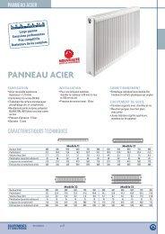 Fiche radiateur acier - SBPP