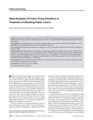 Meta-Analysis of Proton Pump Inhibitors in Treatment of Bleeding ...