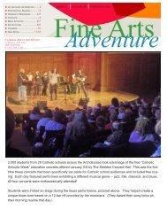 February 2012 Fine Arts Adventure - St. Mary's High School