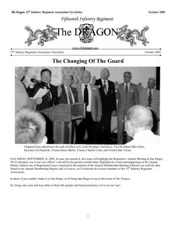 The Changing Of The Guard - 15th Inf Regt