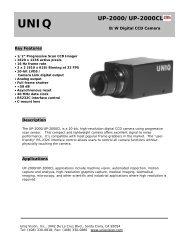 UNIQ UP-2000/UP-2000CL - Image Labs International