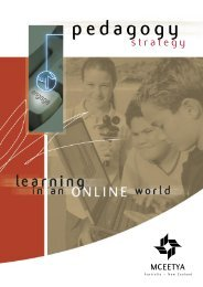 Pedagogy Strategy : learning in an online world - Ministerial Council ...