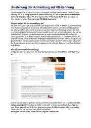 Kurzanleitung - Umstellung auf VR-Kennung - Volksbank Jever eG
