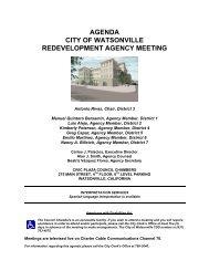 agenda city of watsonville redevelopment agency meeting