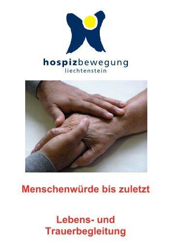 und Trauerbegleitung - Hospizbewegung Liechtenstein