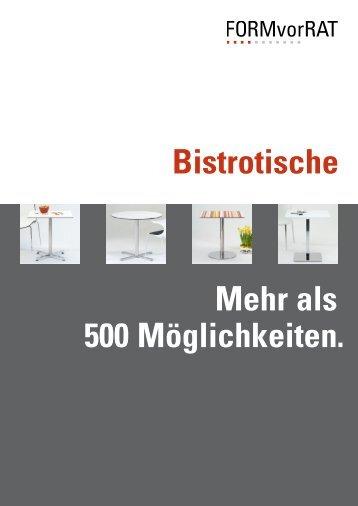Bistrotische und Arbeitstische von FORMvorRAT.