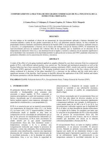 influencia de la estructura cristalina - Grupo Español de Fractura, GEF