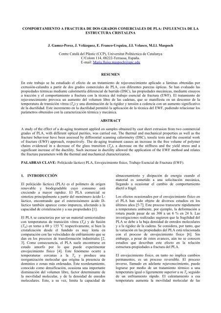 Influencia De La Estructura Cristalina Grupo Espaã Ol De