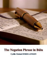 The Negation Phrase in Búlu - IARS' International Research Journal