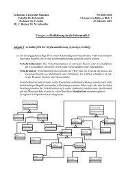 Übungen zu Einführung in die Informatik I - Technische Universität ...