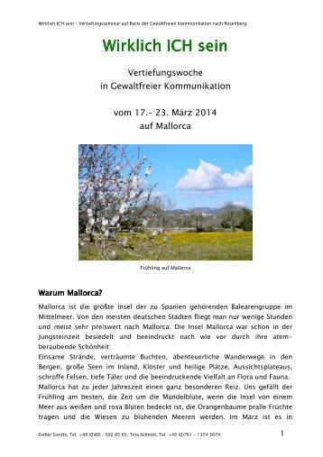 Seminarbeschreibung Mallorca 2014 - Gewaltfreie Kommunikation ...