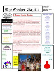 Issue 4 - July 18, 2008 - Gesher Summer Camp
