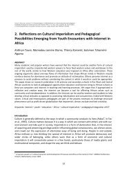 2. Reflections on Cultural Imperialism and ... - Thierry Karsenti