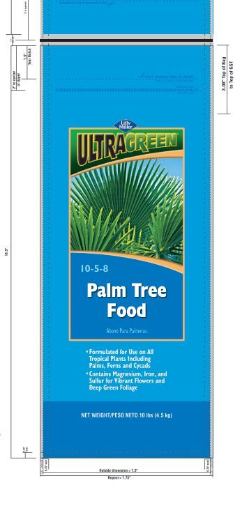 Palm Tree Food 10-5-8 - Central Garden Distribution