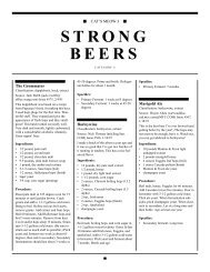 STRONG BEERS - Home Brew Digest