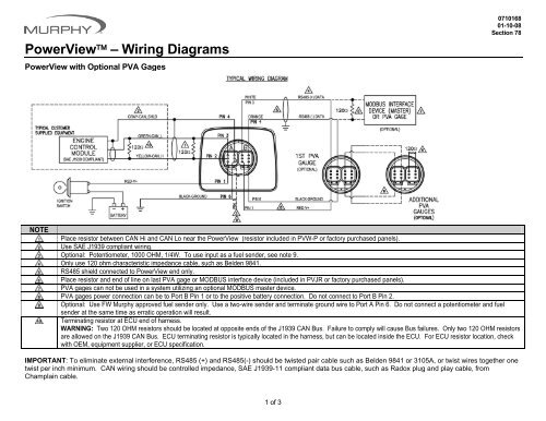 PowerView™ – Wiring Diagrams - Murphy | Murphy Power View Wiring Diagram |  | Yumpu