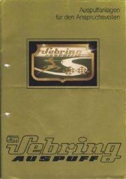 Sebring Prospekt 1982