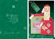 Page 1 Create exquisite luxurious gifts this Christmas. The perfect ...