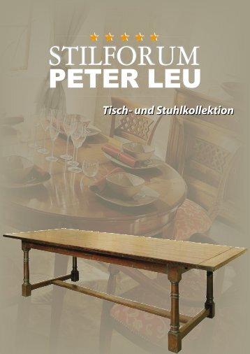 Tisch- Und Stuhlkollektion - Stilmöbel Peter Leu
