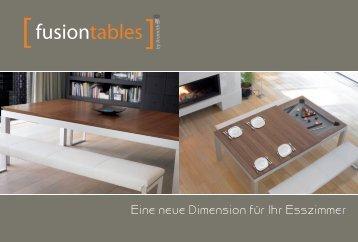 Eine neue Dimension für Ihr Esszimmer - Fusion Tables by Aramith