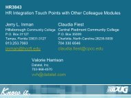 HR3843 HR Integration Touch Points with Other Colleague Modules ...