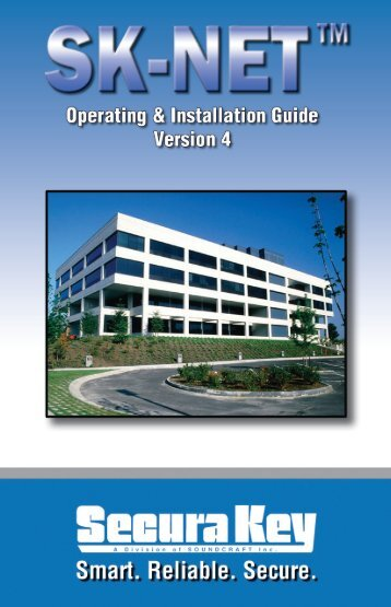 SK-NET™ Operating & Installation Guide - Secura Key
