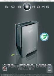 Purificateur d'air / Ionisateur avec lampe UV anthracite ... - BOB HOME