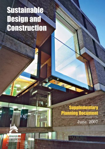 Sustainable Design and Construction - Cambridge City Council
