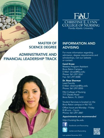 administrative and financial leadership track - Christine E. Lynn ...