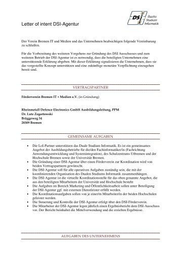 Unverzglich zurckgebe letter of intent dsi agentur spiritdancerdesigns Image collections