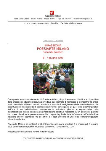 POESIARTE MILANO - Centro Studi e Ricerche Aleph