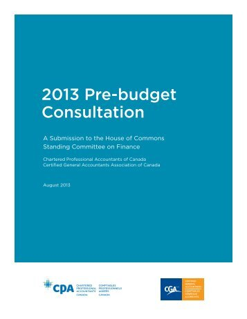 CPA Canada and CGA-Canada Pre-Budget Submission to the ...