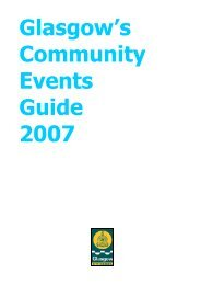 Glasgow's Community Events Guide 2007 - Glasgow City Council