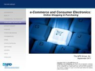e-Commerce and Consumer Electronics: Online ... - NPD Group