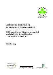 Arbeit und Einkommen in und durch Landwirtschaft - EuroNatur