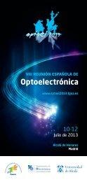 programa definitivo optoel2013 - Fundación General de la ...