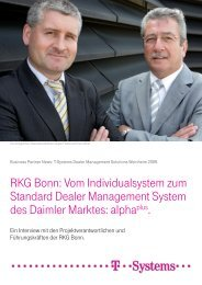 RKG Bonn: Vom Individualsystem zum Standard Dealer ...
