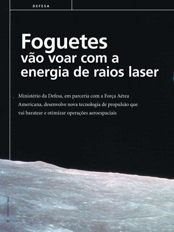 14/07/09 - Foguetes vão voar com a energia de raios laser - IEAv