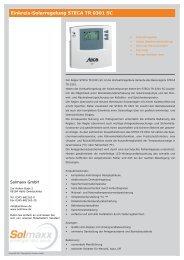 Einkreis-Regelung STECA TR 0301 SC.indd - Solmaxx
