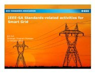 IEEE-SA Standards-related activities for Smart Grid - Continental ...