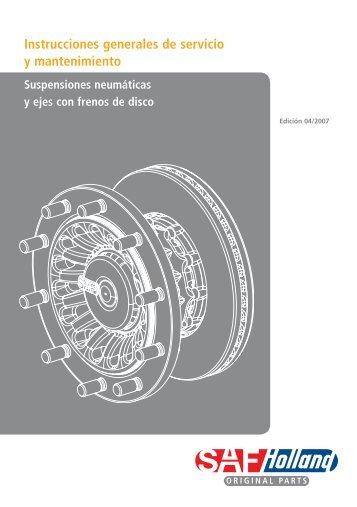 Instrucciones generales de servicio y mantenimiento - saf-holland